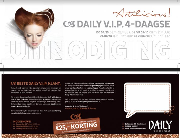Daily presenteert haar fall/winter collectie tijdens de nieuwe VIP4Daagse!