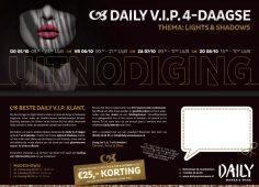 5, 6, 7 en 8 oktober Daily V.I.P. 4-Daagse